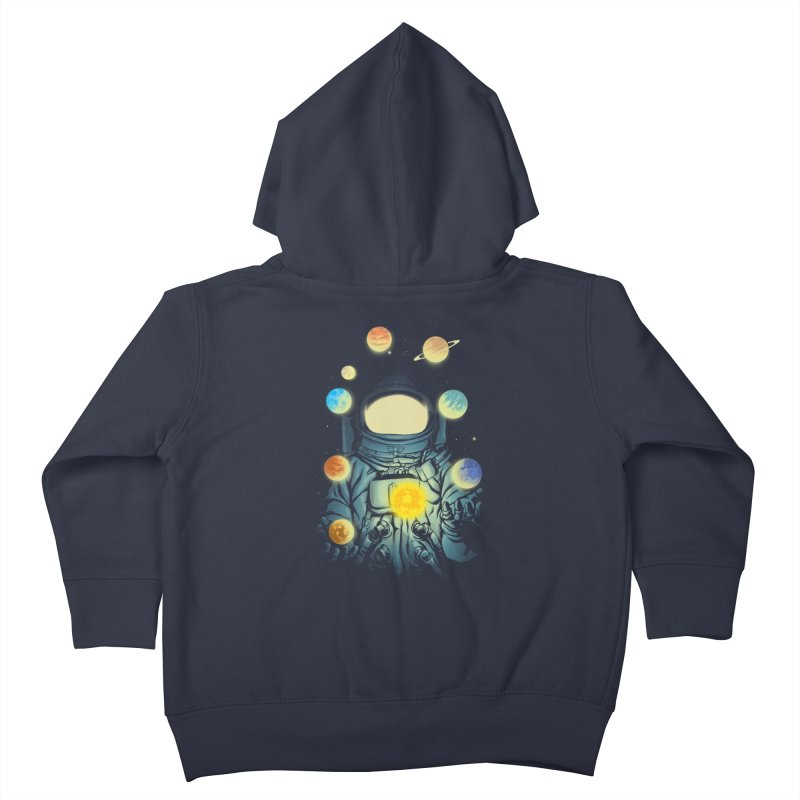 Juggling Planets Kids Toddler Zip-Up Hoody by digital carbine