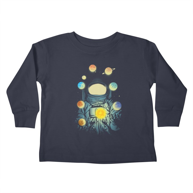 Juggling Planets Kids Toddler Longsleeve T-Shirt by digital carbine