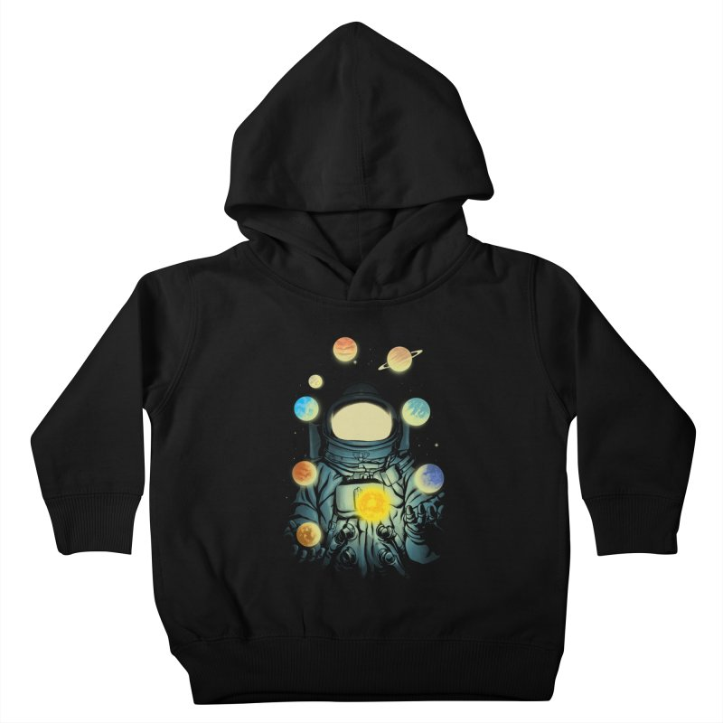Juggling Planets Kids Toddler Pullover Hoody by digital carbine