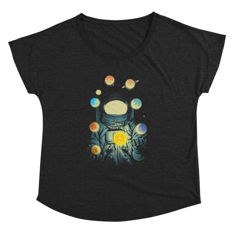 Juggling Planets Women's Dolman Scoop Neck by digital carbine