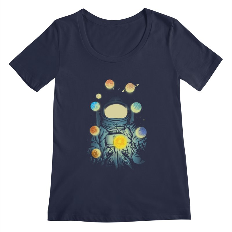 Juggling Planets Women's Regular Scoop Neck by digital carbine