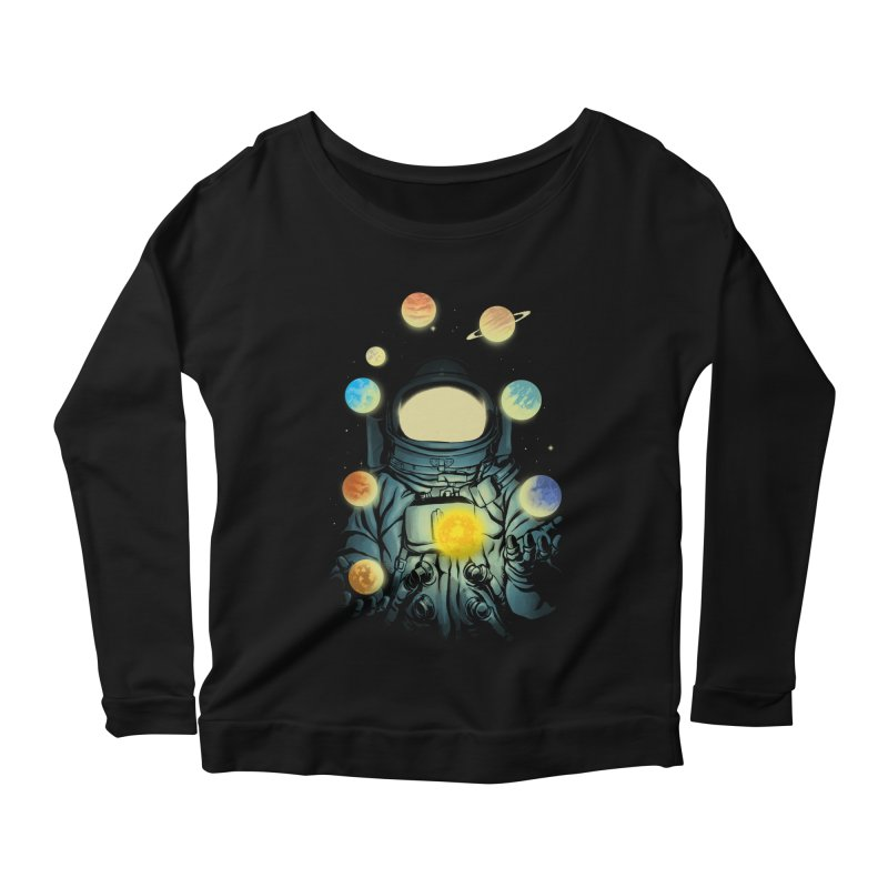 Juggling Planets Women's Longsleeve T-Shirt by digital carbine