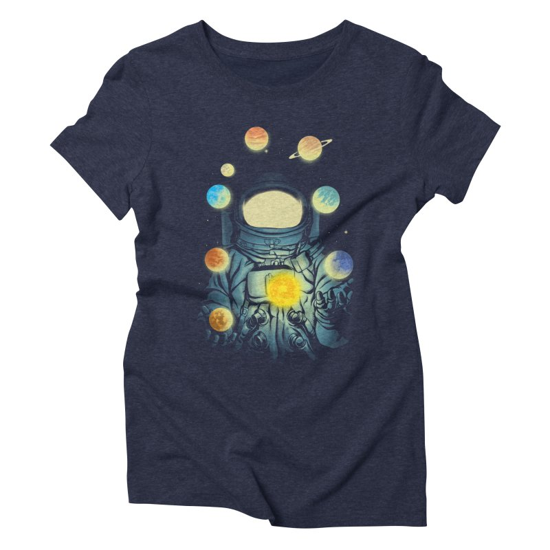 Juggling Planets Women's T-Shirt by digital carbine
