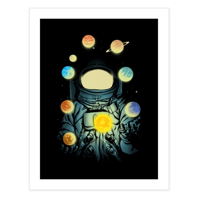 Juggling Planets Home Fine Art Print by digital carbine