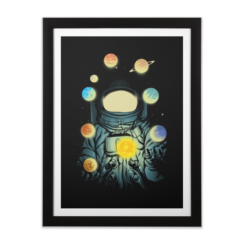 Juggling Planets Home Framed Fine Art Print by digital carbine