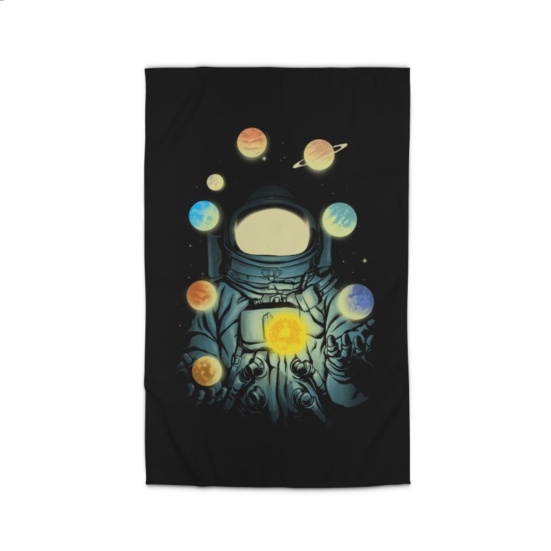 Juggling Planets Home Rug by digital carbine