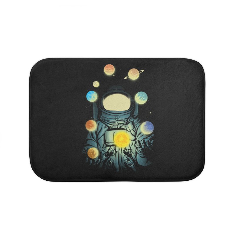 Juggling Planets Home Bath Mat by digital carbine