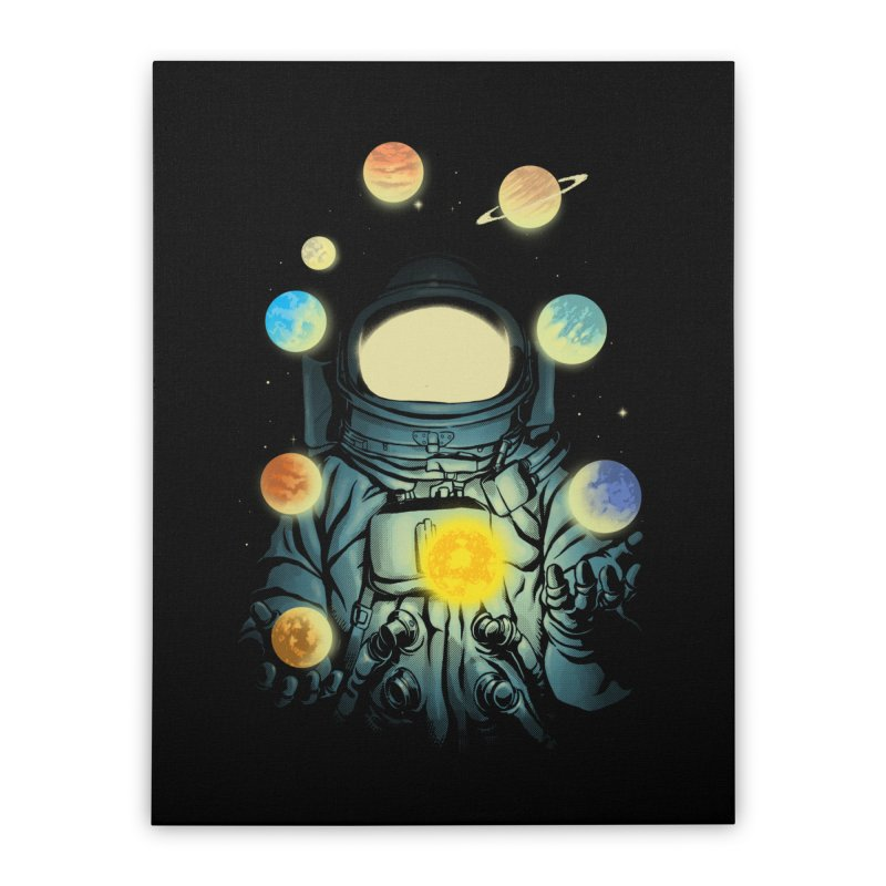 Juggling Planets Home Stretched Canvas by digital carbine