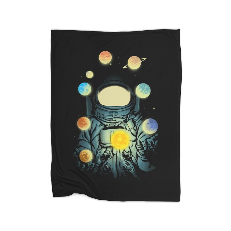 Juggling Planets Home Fleece Blanket Blanket by digital carbine