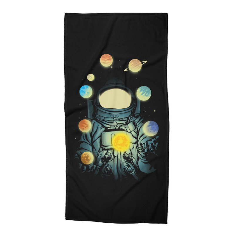 Juggling Planets Accessories Beach Towel by digital carbine