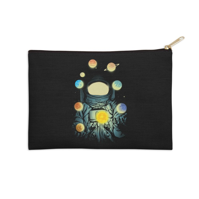 Juggling Planets Accessories Zip Pouch by digital carbine