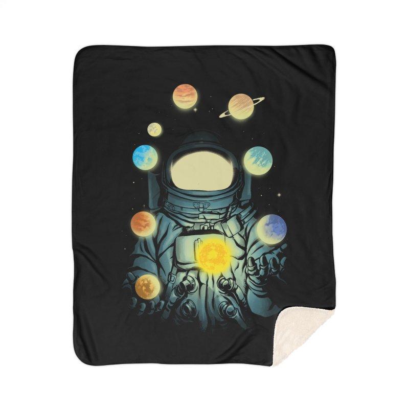 Juggling Planets Home Sherpa Blanket Blanket by digital carbine