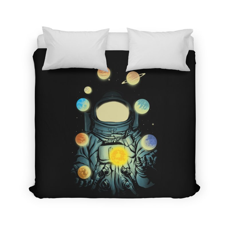 Juggling Planets Home Duvet by digital carbine