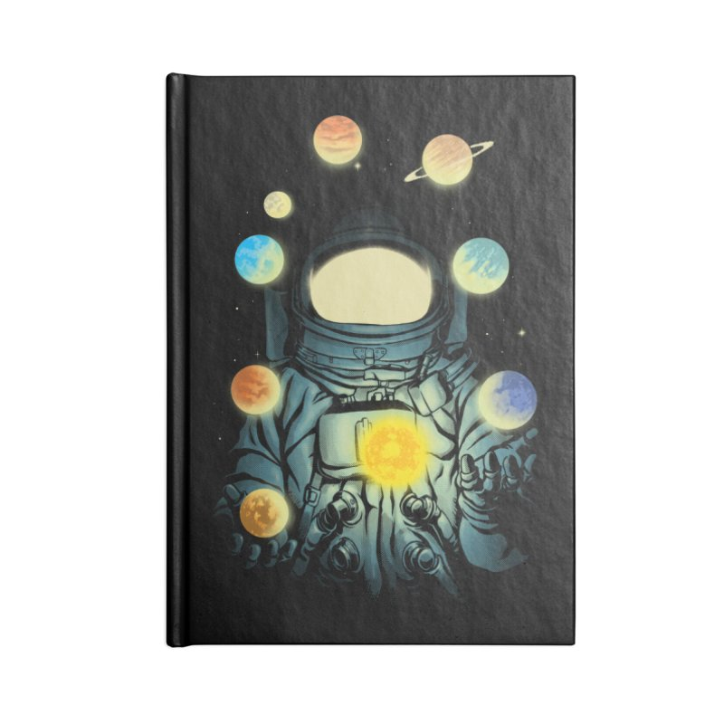 Juggling Planets Accessories Lined Journal Notebook by digital carbine