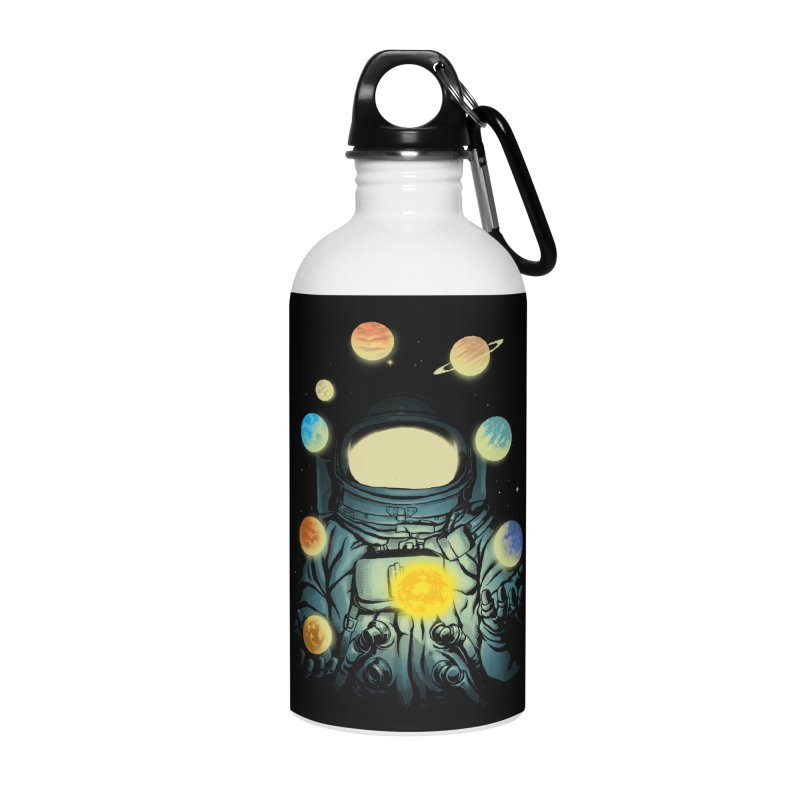 Juggling Planets Accessories Water Bottle by digital carbine