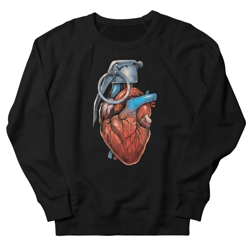 Heart Grenade Men's Sweatshirt by digitalcarbine