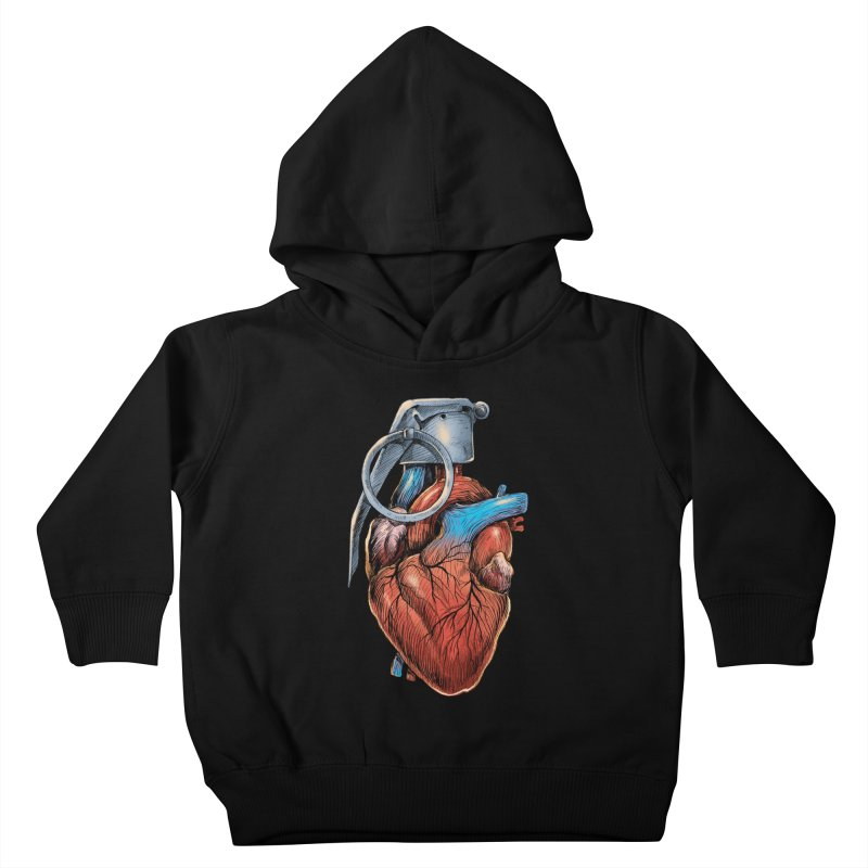 Heart Grenade Kids Toddler Pullover Hoody by digitalcarbine
