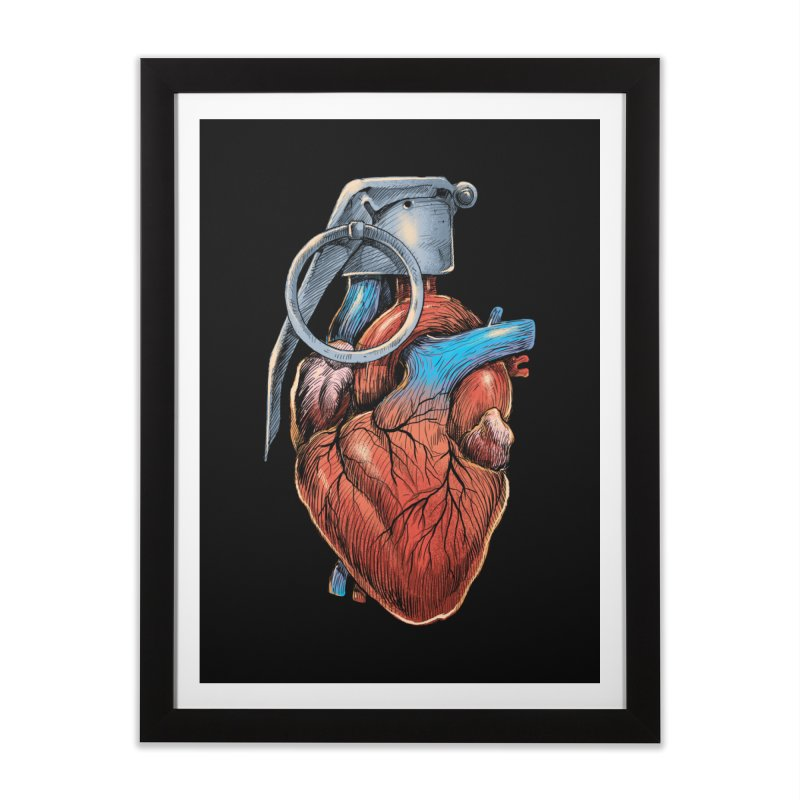 Heart Grenade Home Framed Fine Art Print by digitalcarbine