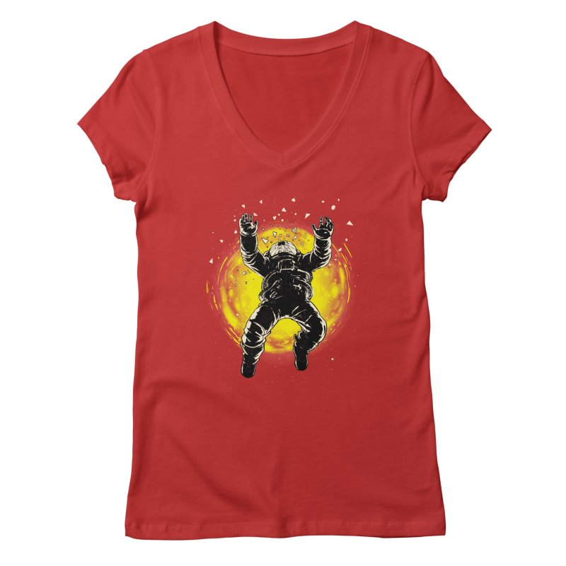 Lost in the Space Women's Regular V-Neck by digital carbine