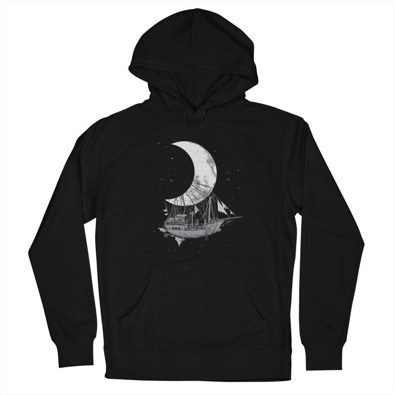 Moon Ship Women's Pullover Hoody by digital carbine