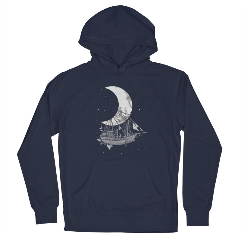 Moon Ship Men's French Terry Pullover Hoody by digital carbine