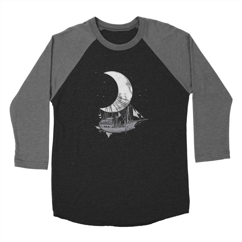 Moon Ship Men's Baseball Triblend Longsleeve T-Shirt by digital carbine