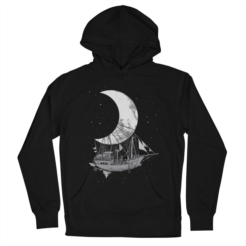 Moon Ship Women's French Terry Pullover Hoody by digital carbine