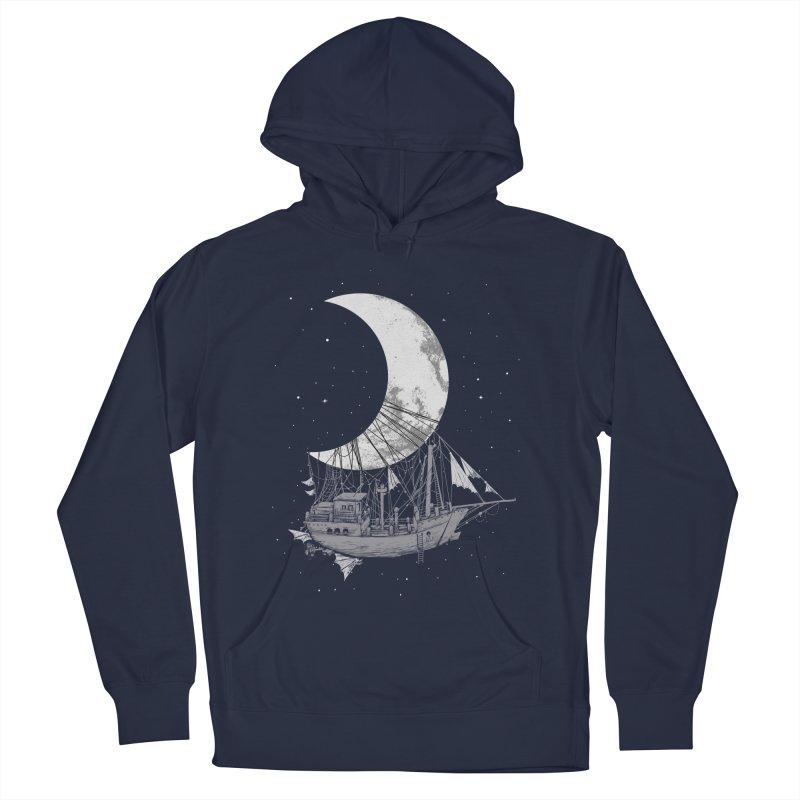 Moon Ship Men's Pullover Hoody by digital carbine