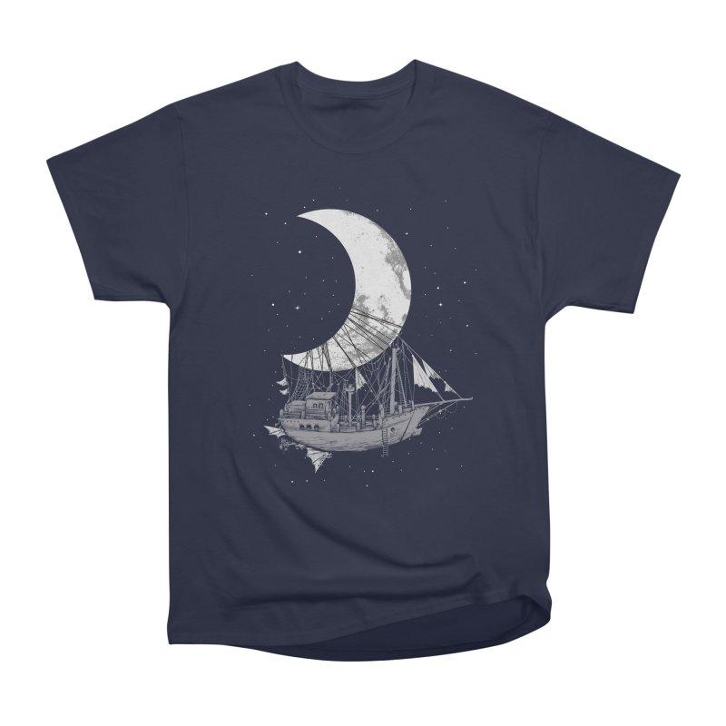 Moon Ship Men's Heavyweight T-Shirt by digital carbine