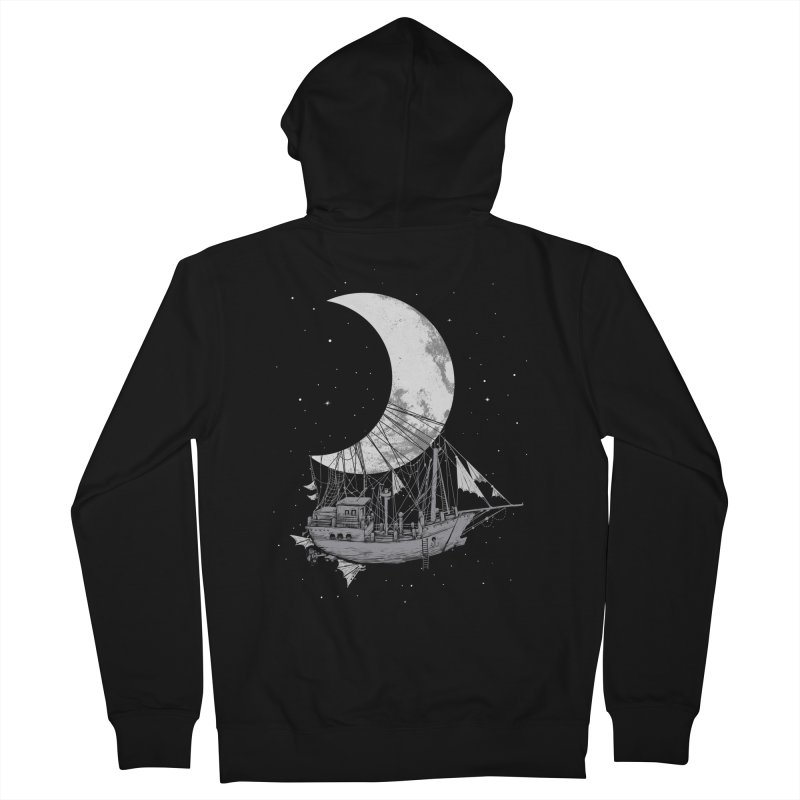 Moon Ship Women's French Terry Zip-Up Hoody by digital carbine