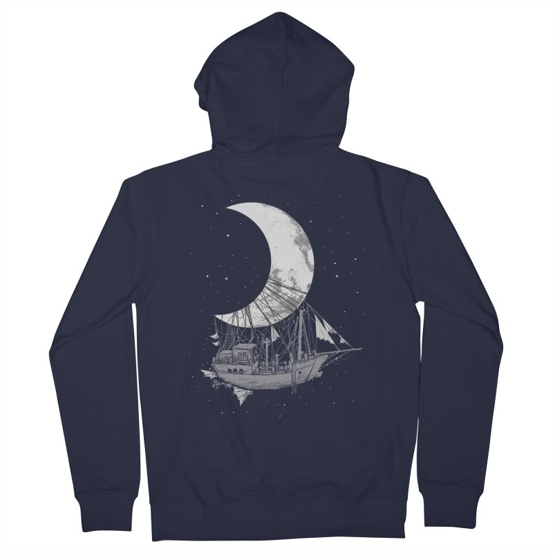 Moon Ship Women's Zip-Up Hoody by digital carbine