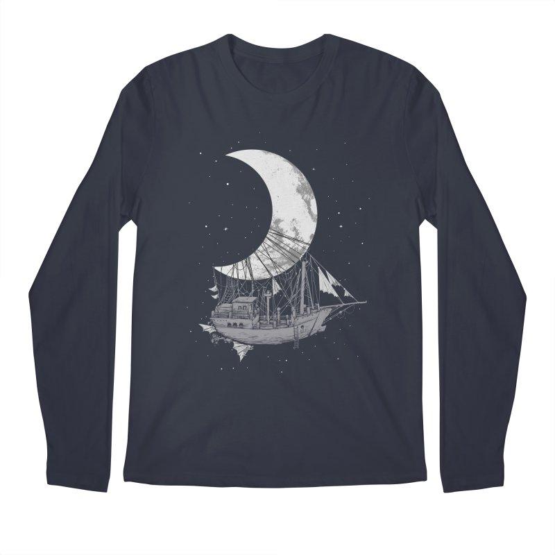 Moon Ship Men's Regular Longsleeve T-Shirt by digital carbine