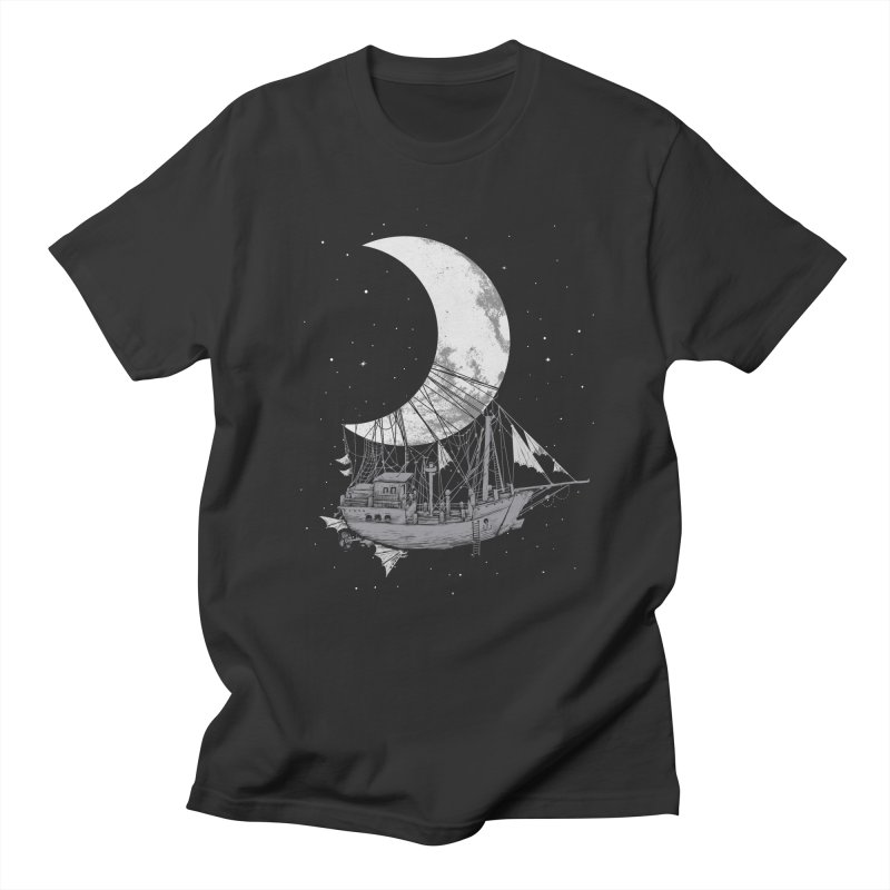 Moon Ship Women's Regular Unisex T-Shirt by digital carbine