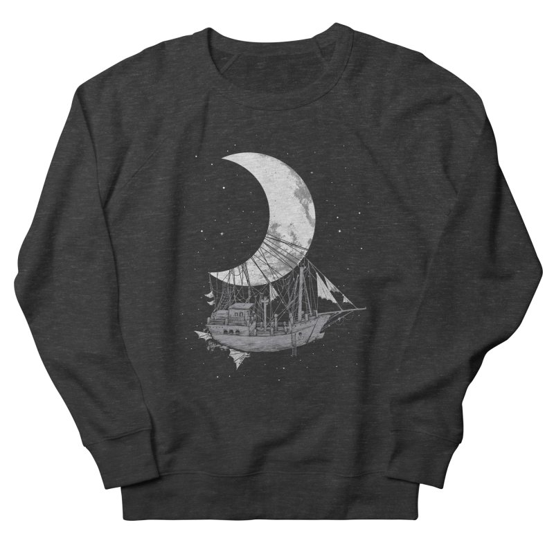Moon Ship Women's French Terry Sweatshirt by digital carbine