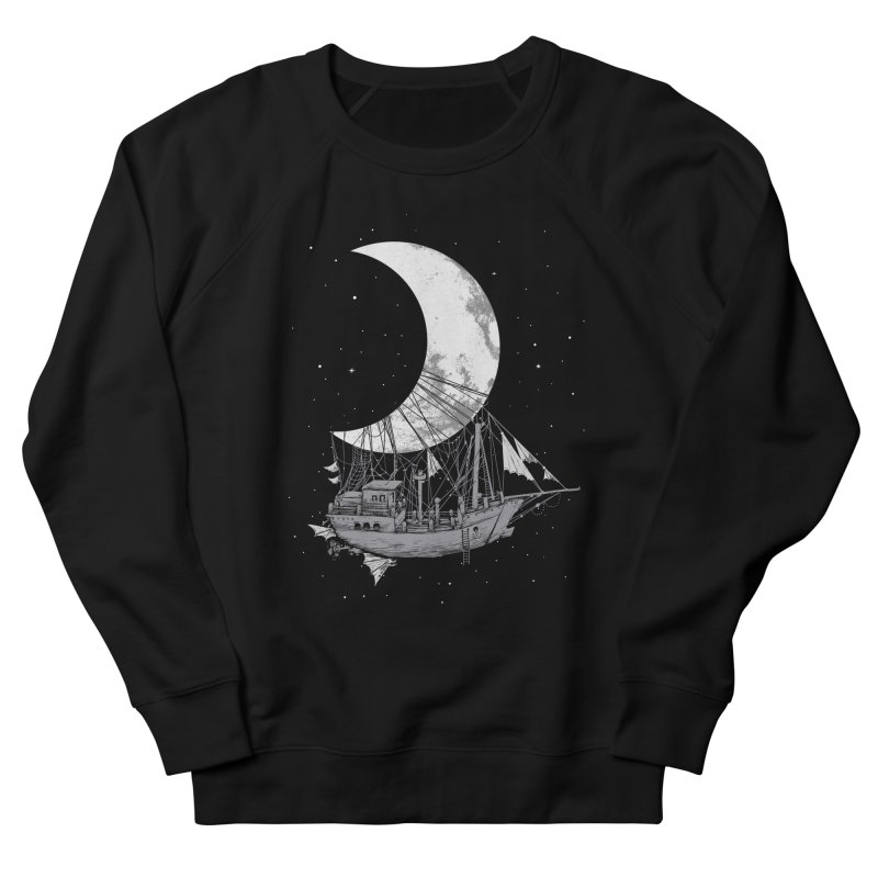 Moon Ship Men's French Terry Sweatshirt by digital carbine