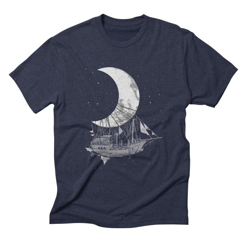 Moon Ship Men's Triblend T-Shirt by digital carbine
