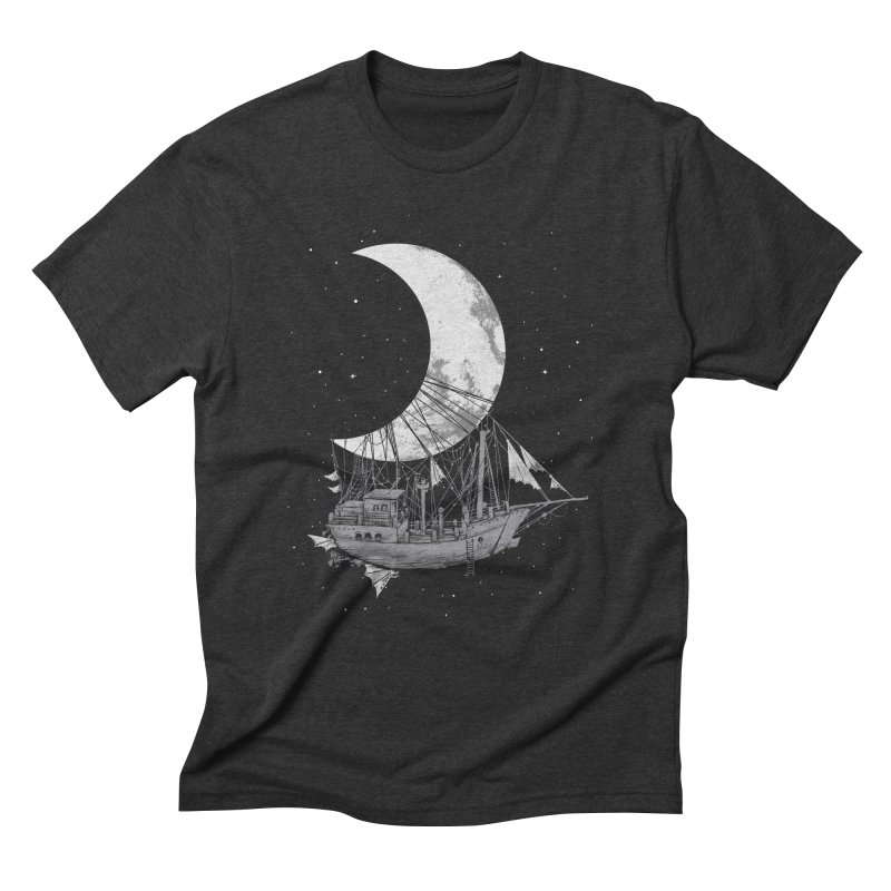 Moon Ship Men's Triblend T-Shirt by digital carbine
