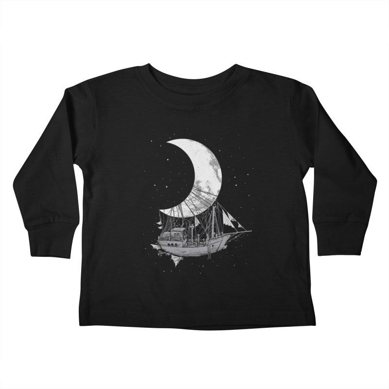 Moon Ship Kids Toddler Longsleeve T-Shirt by digital carbine