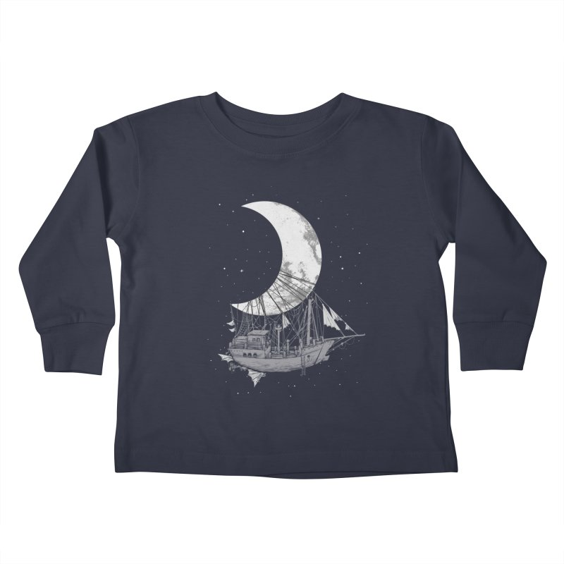 Moon Ship Kids Toddler Longsleeve T-Shirt by digital carbine