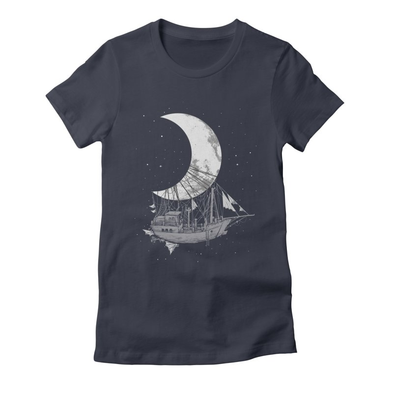 Moon Ship Women's T-Shirt by digital carbine