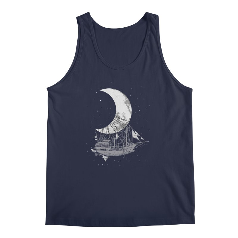 Moon Ship Men's Regular Tank by digital carbine