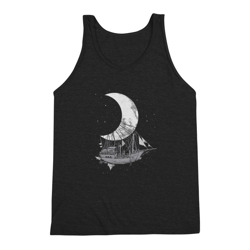 Moon Ship Men's Triblend Tank by digital carbine