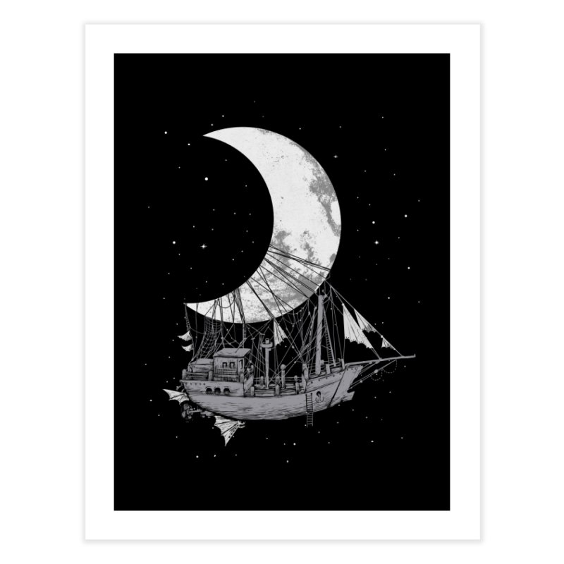 Moon Ship Home Fine Art Print by digital carbine
