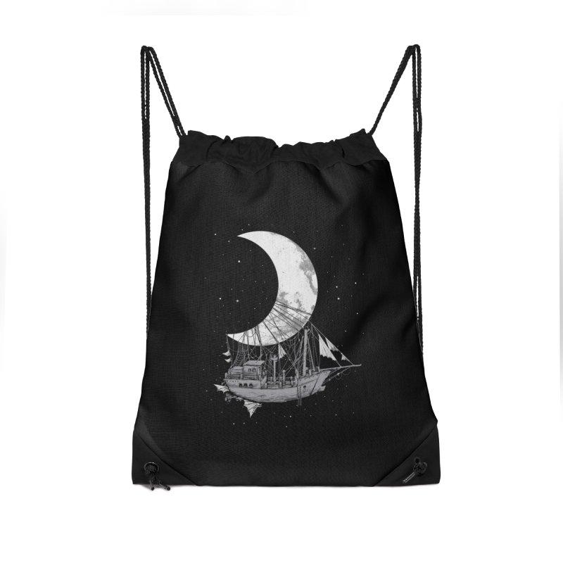 Moon Ship Accessories Drawstring Bag Bag by digital carbine