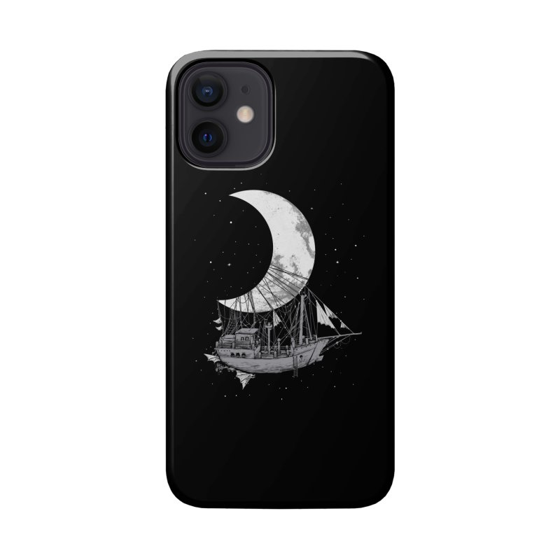 Moon Ship Accessories Phone Case by digital carbine