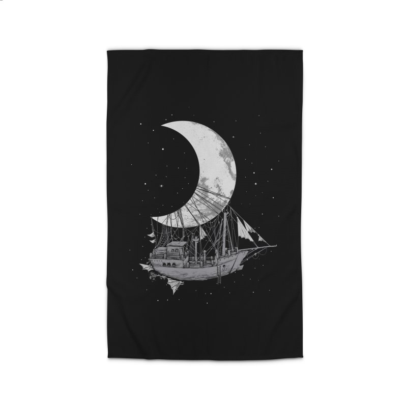 Moon Ship Home Rug by digital carbine