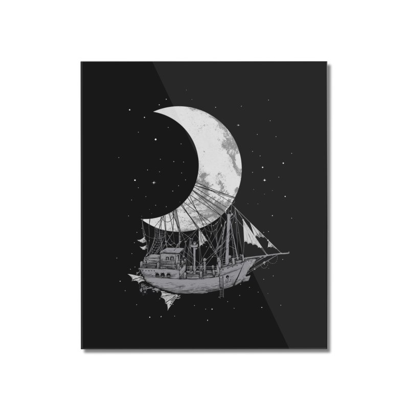 Moon Ship Home Mounted Acrylic Print by digital carbine