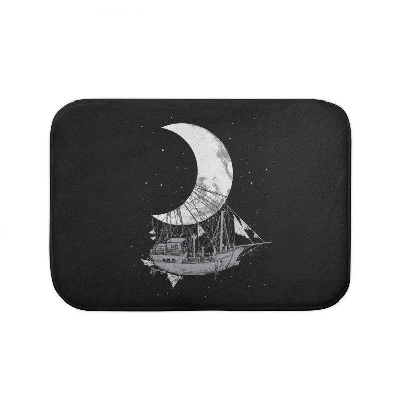 Moon Ship Home Bath Mat by digital carbine