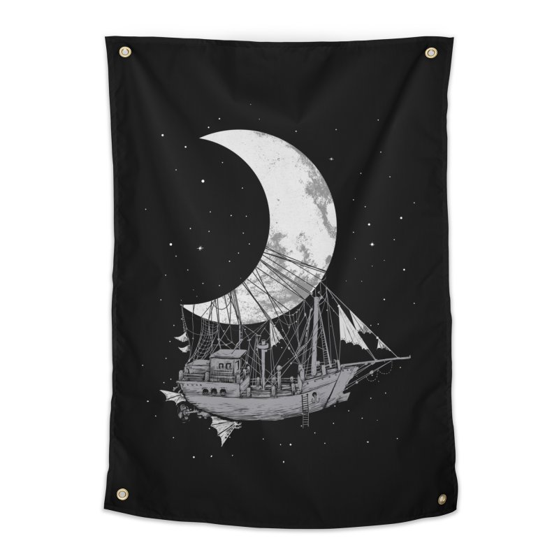 Moon Ship Home Tapestry by digital carbine