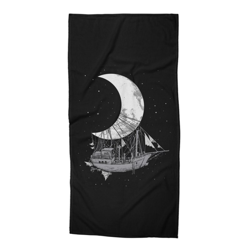 Moon Ship Accessories Beach Towel by digital carbine